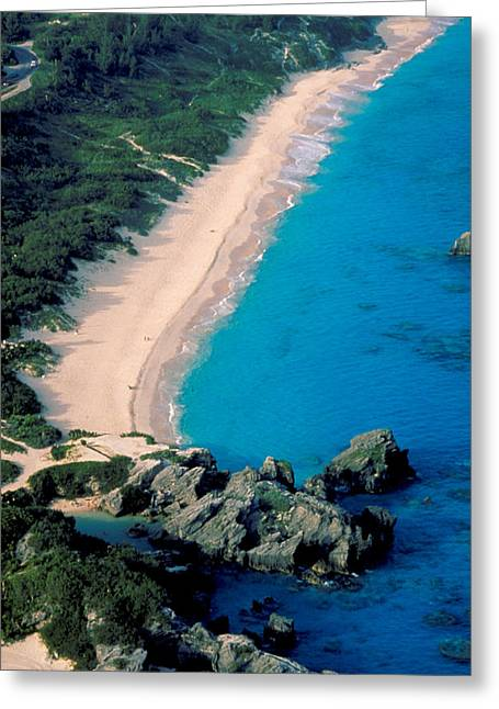 Beautiful Bermuda Beach Greeting Card by Carl Purcell