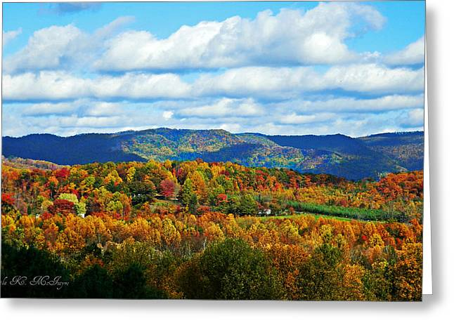 Beautiful Blue Ridge Mountains Greeting Card