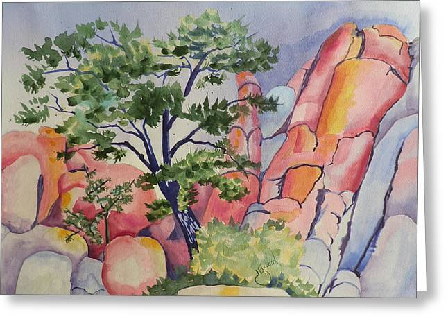 Beautiful Boulders Greeting Card by Jann Elwood