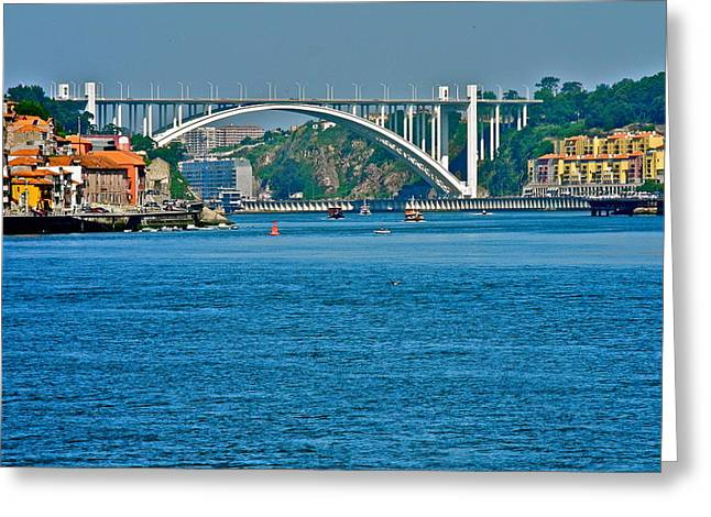 Greeting Card featuring the photograph Beautiful Bridge In Porto by Kirsten Giving