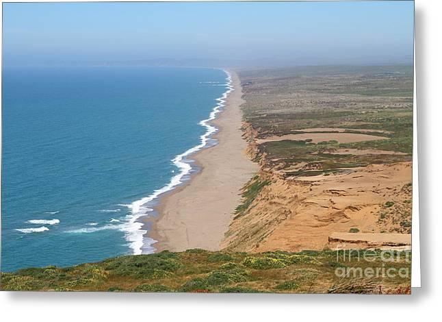 Beautiful Coastline Of Point Reyes California . 7d15965 Greeting Card