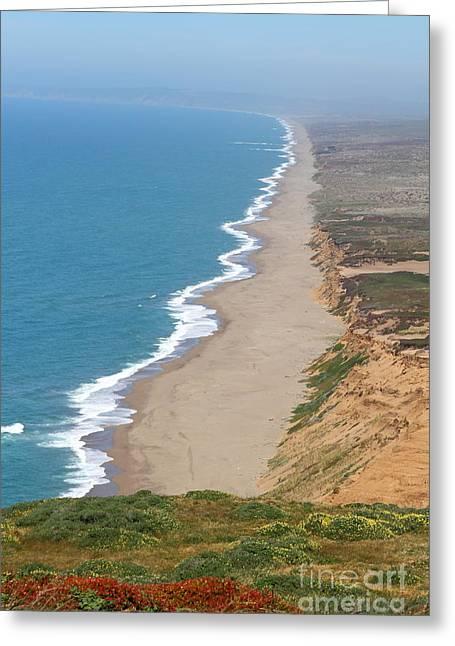 Beautiful Coastline Of Point Reyes California . 7d15968 Greeting Card