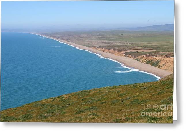 Beautiful Coastline Of Point Reyes California . 7d16028 Greeting Card
