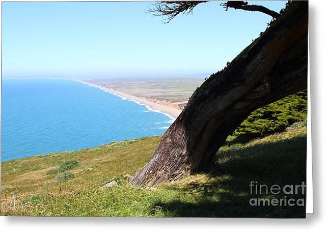 Beautiful Coastline Of Point Reyes California . 7d16033 Greeting Card