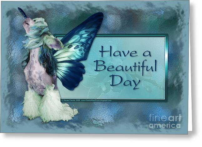 Beautiful Day - Chinese Crested Fairy Greeting Card by Renae Laughner