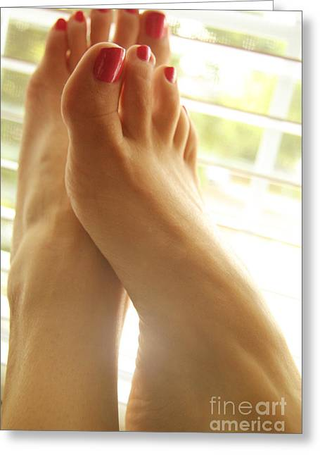 Beautiful Feet 2 Greeting Card by Tos Photos