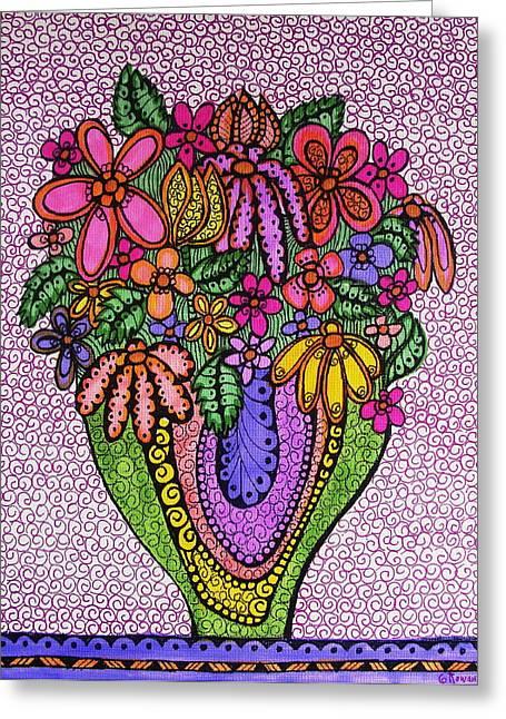 Beautiful Floral Imagination  Greeting Card by Gerri Rowan