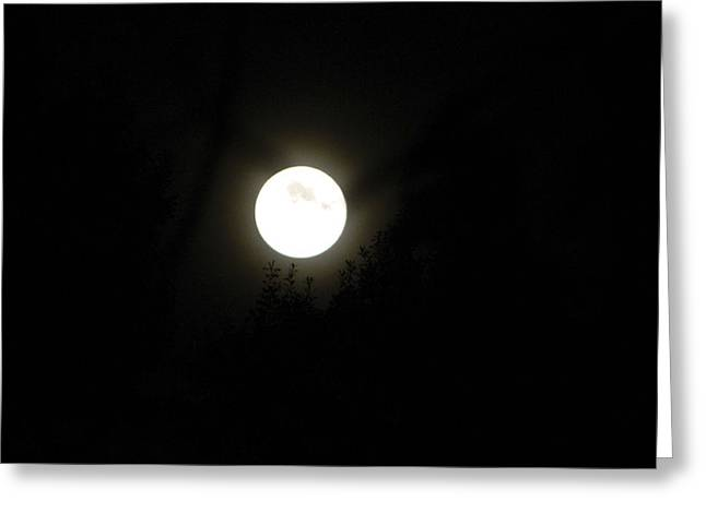 Greeting Card featuring the photograph Beautiful Full Moon by Ester  Rogers