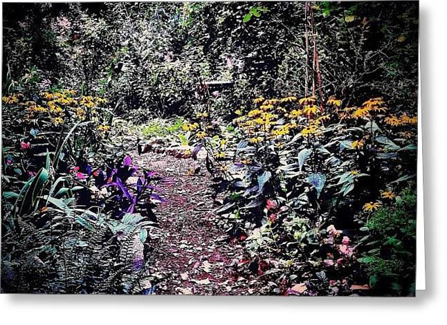 Beautiful Garden Path - New York City Greeting Card