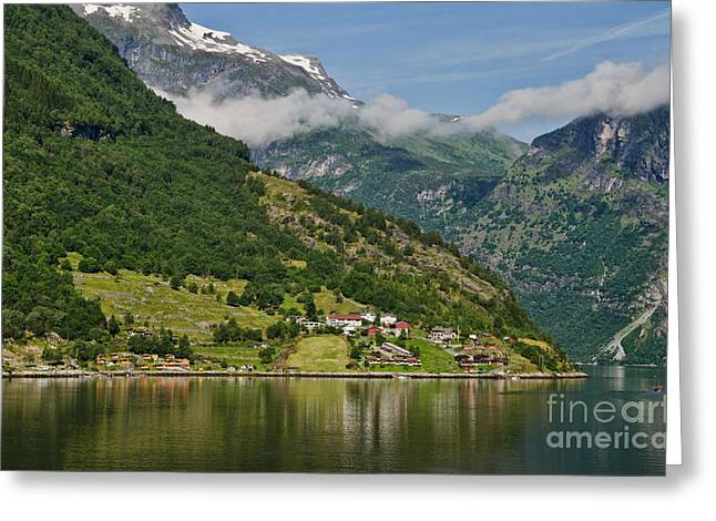 Beautiful Geiranger Norway Greeting Card
