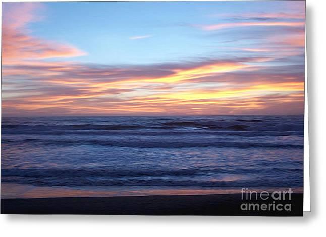 Beautiful Ocean Sunset  Greeting Card
