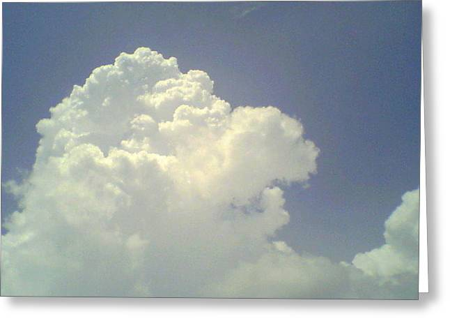 Beautiful Puffy Whie Clouds In A Bright Blue Sky Greeting Card by Debbie Wassmann