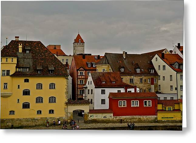 Greeting Card featuring the photograph Beautiful Regensburg by Kirsten Giving