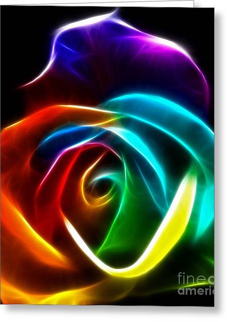 Beautiful Rose Of Colors No3 Greeting Card by Pamela Johnson
