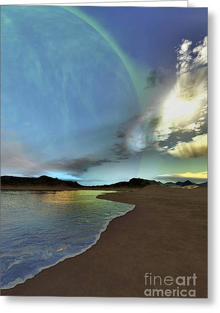 Beautiful Skies Shine Down On This Greeting Card by Corey Ford