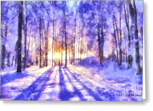 Beautiful Winter Morning Greeting Card by Elizabeth Coats