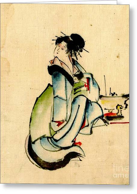 Beauty And Hibachi 1840 Greeting Card by Padre Art
