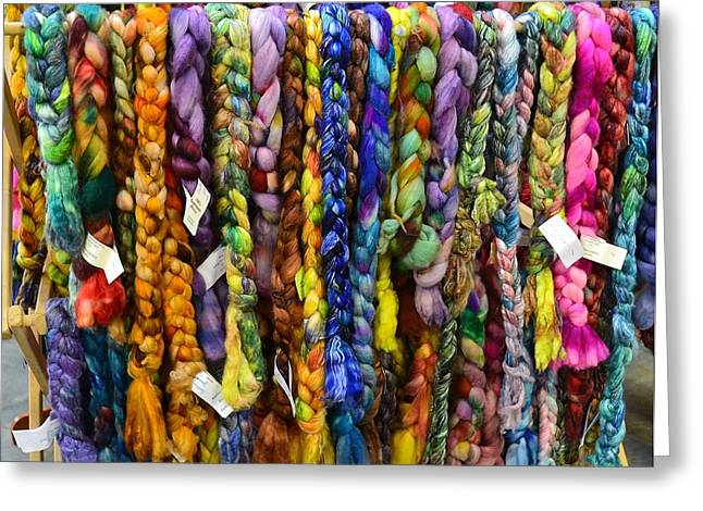 Beauty In Braided Roving Greeting Card by Mary Zeman