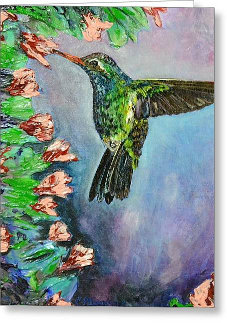 Beauty In Flight Greeting Card by Melissa Torres