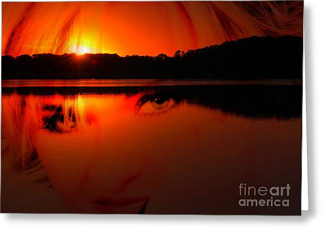 Greeting Card featuring the photograph Beauty Looks Back by Clayton Bruster