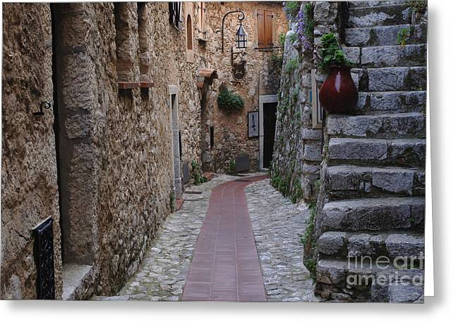 Beauty Of Eze France Greeting Card by Bob Christopher