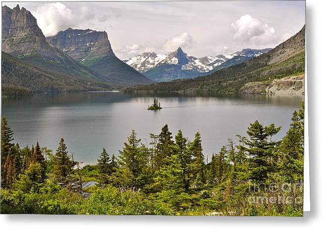 Greeting Card featuring the photograph Beauty Of St. Mary's Lake by Johanne Peale