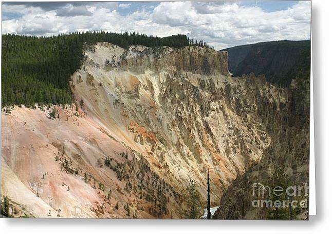 Beauty Of The Grand Canyon In Yellowstone Greeting Card by Living Color Photography Lorraine Lynch