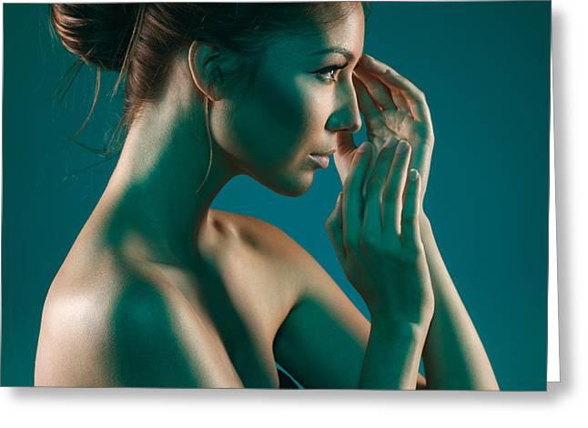 Beauty Greeting Card by Pavlo Kolotenko