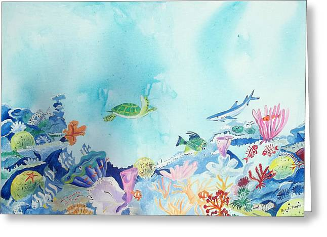 Beauty Under The Ocean Greeting Card by Renate Pampel