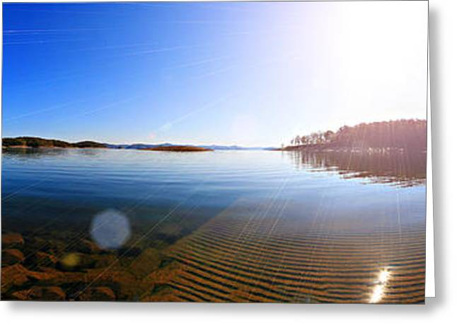 Beavers Bend State Park-lake- Oklahoma Panorama Greeting Card by Douglas Barnard