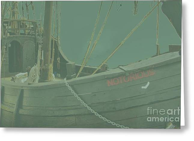 Becalmed In A Sea Mist Greeting Card