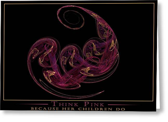 Because Her Children Do Greeting Card by LeAnne Hosmer