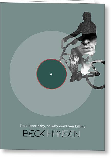 Beck Poster Greeting Card