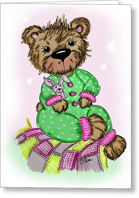 Becky Bear Greeting Card by Tammy Talerico