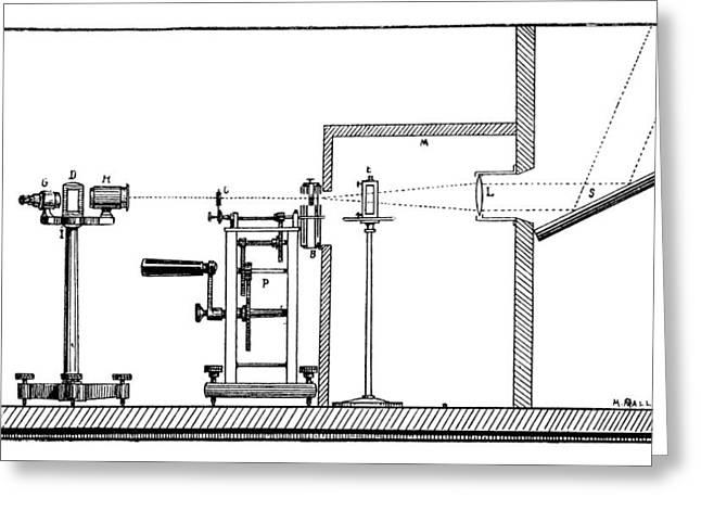 Becquerel Phosphoroscope, 19th Century Greeting Card by