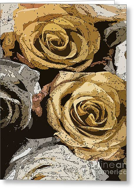 Bed Of Roses Greeting Card