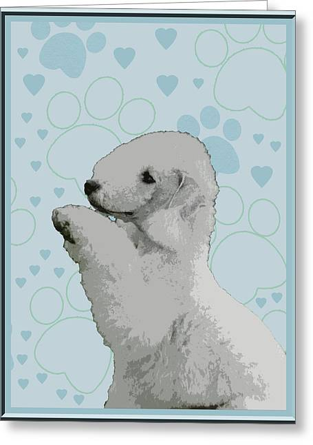 Bedlington Terrier Greeting Card by One Rude Dawg Orcutt