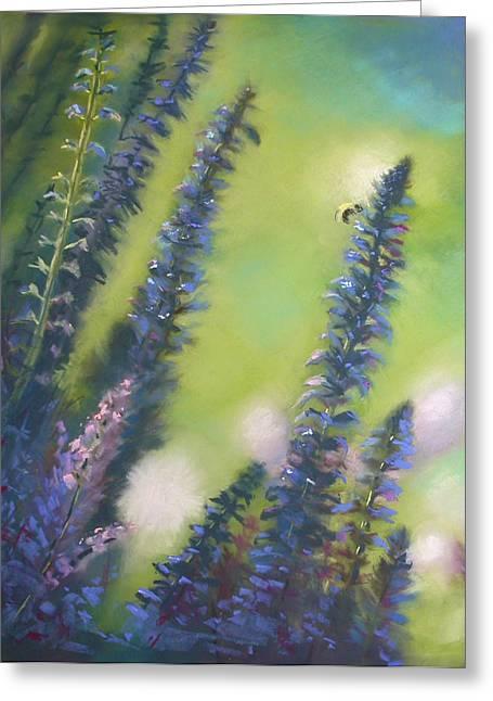 Bee Still #2 Greeting Card by Judy Albright