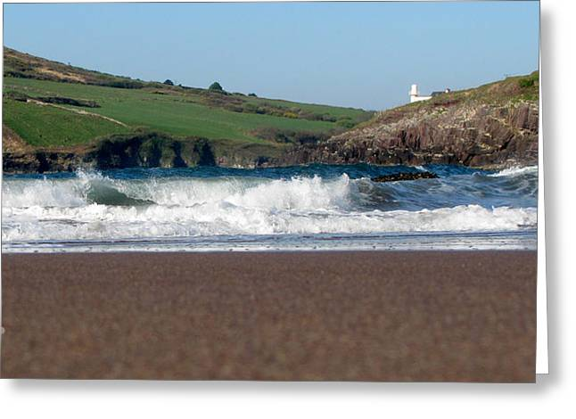 Greeting Card featuring the photograph Beenbane Beach by Barbara Walsh