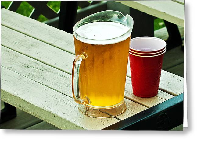 Beer 30 Now Greeting Card by Edward Peterson