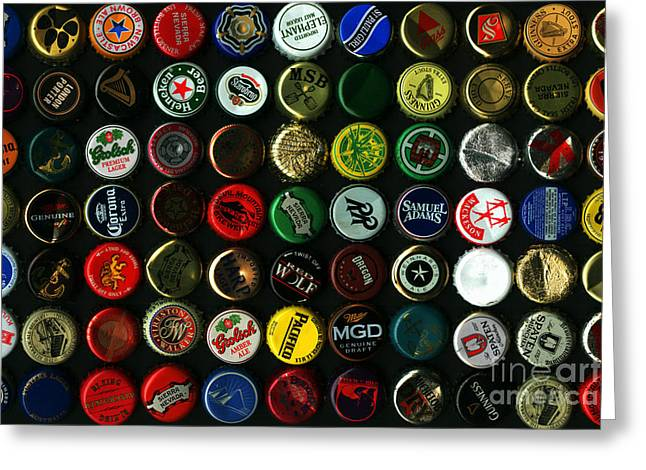 Beer Bottle Caps . 8 To 12 Proportion Greeting Card by Wingsdomain Art and Photography