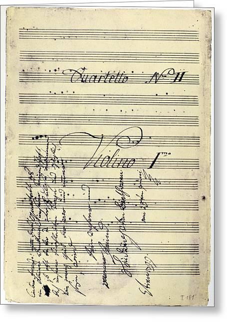Beethoven Manuscript, 1799 Greeting Card by Granger