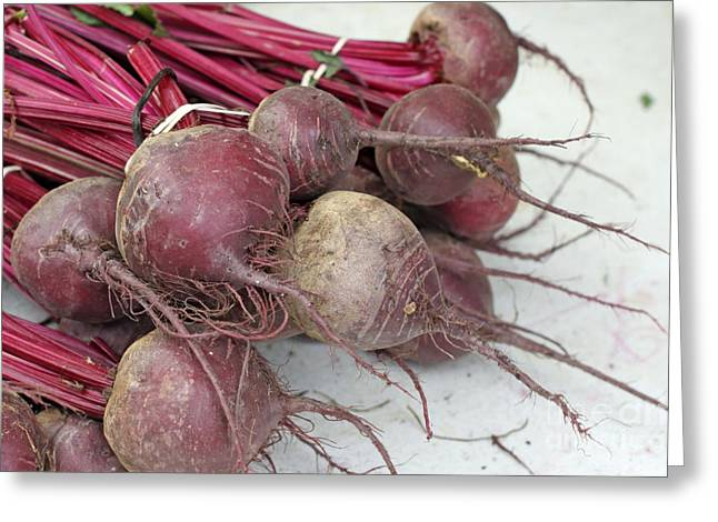 Greeting Card featuring the photograph Beets Me by Denise Pohl