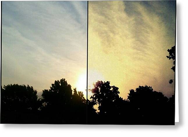 #before & #after #sunrise #sky #clouds Greeting Card by Kel Hill