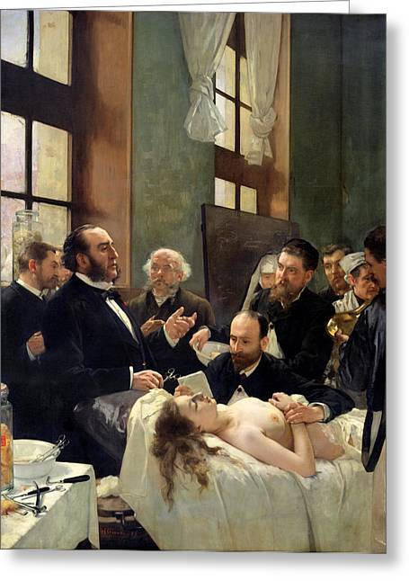 Before The Operation Greeting Card by Henri Gervex