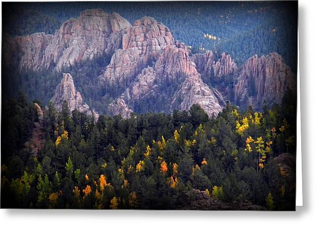 Greeting Card featuring the photograph Beginning Of Mountain Fall by Michelle Frizzell-Thompson