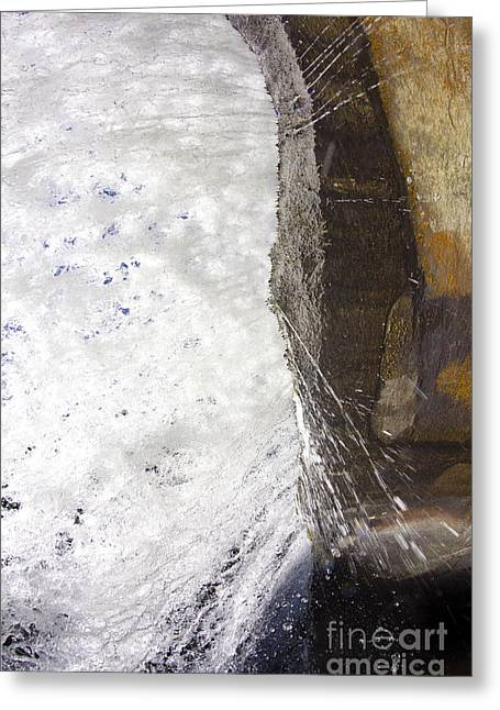 Behind Bridal Veil Falls In Dupont State Park Nc Greeting Card