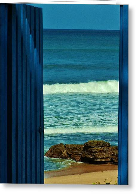 Behind The Blue Door Photograph By Cliff Barnes