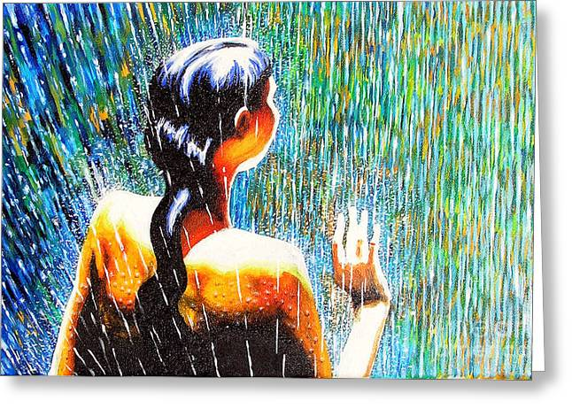 Behind The Rain Greeting Card by Jose Miguel Barrionuevo
