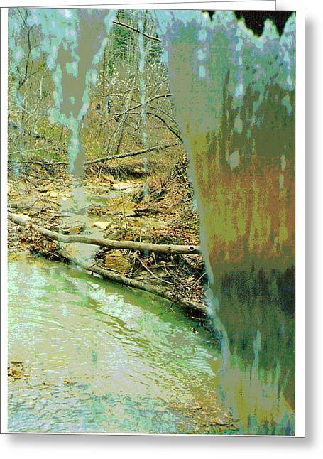Behind The Waterfall Greeting Card